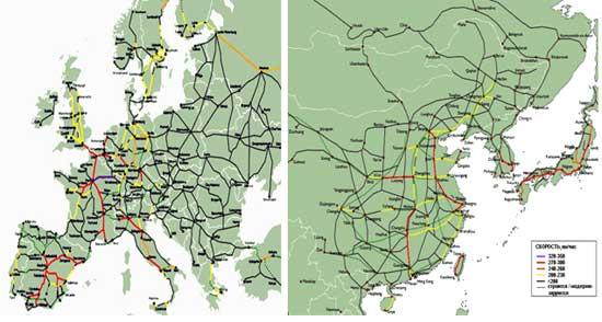 железных дорог в Европе и